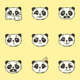 Emociones de la panda Fotos de archivo