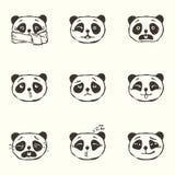 Emociones de la panda Fotos de archivo libres de regalías