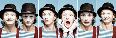 Emociones de las pantomimas foto de archivo libre de regalías