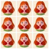 Emociones de los avatares E r stock de ilustración