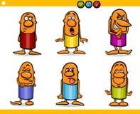 Emociones de los caracteres de la gente de la historieta ilustración del vector