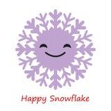 Emociones de los copos de nieve de la bandera Historieta linda libre illustration