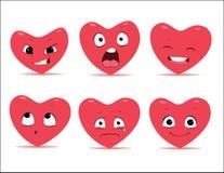 Emociones de los corazones Imagenes de archivo