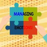 Emociones de manejo del texto de la escritura El concepto que significa capacidad esté abierto a las sensaciones y las modula en  ilustración del vector