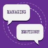 Emociones de manejo del texto de la escritura de la palabra El concepto del negocio para la capacidad esté abierto a las sensacio stock de ilustración