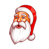 Emociones de Papá Noel Parte del sistema de la Navidad Cansado, cansado Aliste para la impresión Fotografía de archivo
