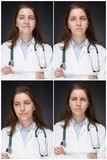 Emociones de un doctor Imagen de archivo libre de regalías