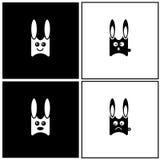 Emociones del conejo ilustración del vector