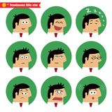 Emociones del facial del negocio Imagenes de archivo