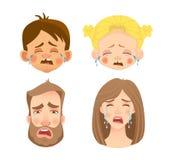 Emociones del rostro humano - sistema libre illustration