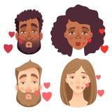 Emociones del sistema del rostro humano libre illustration