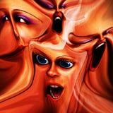 Emociones femeninas extrañas 19 libre illustration