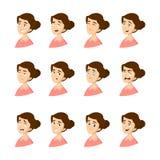 Emociones femeninas fijadas libre illustration