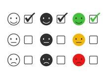 Emociones para los iconos de la tarifa ilustración del vector