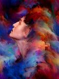 Emociones pintadas Imagen de archivo libre de regalías