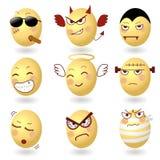Emociones Set2 del vector de los huevos libre illustration