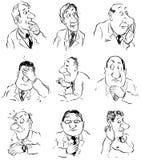 Emociones y humores stock de ilustración