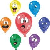 Emocja multicolor balon ustawia 001 ilustracja wektor