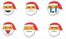 Emocja Santa royalty ilustracja