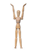 Emocja z marionetką Zdjęcie Stock
