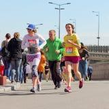 Emocje w maratonie Zdjęcia Royalty Free