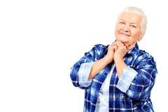 Emocjonalna babcia obrazy stock