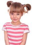 Emocjonalna portret mała dziewczynka Fotografia Royalty Free