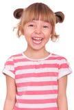 Emocjonalna portret mała dziewczynka Zdjęcia Stock