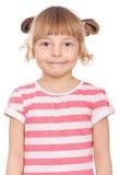 Emocjonalna portret mała dziewczynka Obrazy Royalty Free