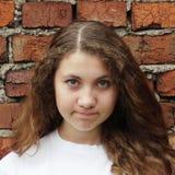 Emocjonalna słodka dziewczyna Zdjęcie Stock