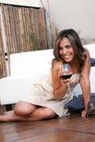 emocjonalnej dziewczyny łaciński wino Zdjęcie Stock