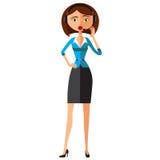 Emocjonalny kostiumer usługa centrum telefonicznego operator Na obowiązku, emocjonalnej kobiety obsługi klienta kreskówki wektoru Zdjęcia Stock