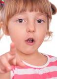 Emocjonalny portret mała dziewczynka Zdjęcia Royalty Free