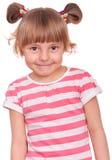 Emocjonalny portret mała dziewczynka Obraz Stock