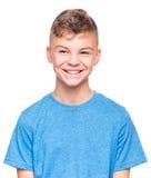 Emocjonalny portret nastoletnia chłopiec Obrazy Royalty Free