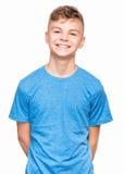 Emocjonalny portret nastoletnia chłopiec Obraz Royalty Free
