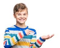Emocjonalny portret nastoletnia chłopiec Zdjęcia Stock