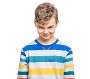 Emocjonalny portret nastoletnia chłopiec Zdjęcie Stock