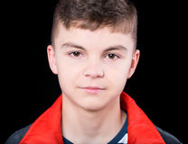 Emocjonalny portret nastoletnia chłopiec Zdjęcie Royalty Free