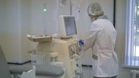 Emodialisi, apparecchiatura del rene artificiale Salvando vite video d archivio