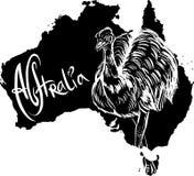 Emoe als Australisch symbool Royalty-vrije Stock Fotografie
