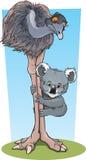 Emoe en Koala vector illustratie