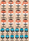 Emoções 2 do caráter Imagens de Stock