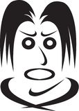 Emoções da face-raiva humana Imagens de Stock Royalty Free
