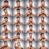 Emoções e gestos Fotografia de Stock