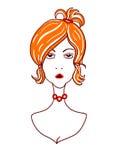Emoj 妇女面孔表示 向量例证