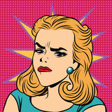 Emoji减速火箭的愤怒憎恶女孩意思号 库存例证