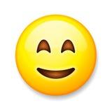 Emoji在白色背景,意思号面孔隔绝了 库存照片