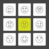 Emoji, émoticônes, eomtions, smiley, icônes d'ENV a placé le vecteur illustration de vecteur