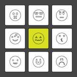 Emoji, émoticônes, eomtions, smiley, icônes d'ENV a placé le vecteur illustration stock